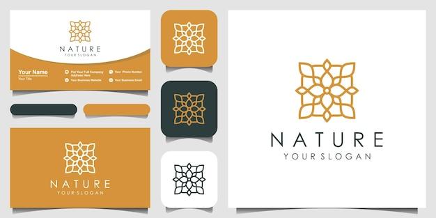 Minimalistyczny elegancki projekt logo liści i kwiatów róży dla urody kosmetyki joga i spa