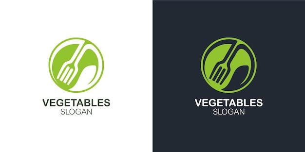 Minimalistyczny elegancki zestaw logo warzyw