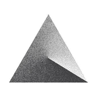 Minimalistyczny element projektu w kształcie kropkowanego trójkąta
