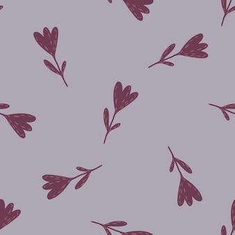 Minimalistyczny fioletowy kwiat ornament wzór. fioletowe tło pastelowe. prosty nadruk. ilustracja wektorowa do sezonowych wydruków tekstylnych, tkanin, banerów, teł i tapet.