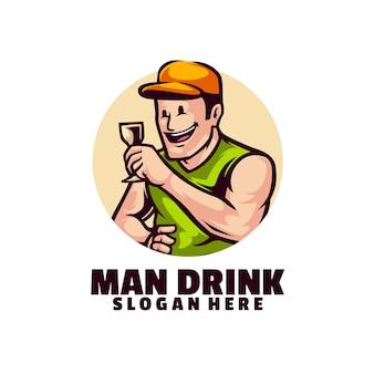 Minimalistyczny i niepowtarzalny projekt człowieka piwa