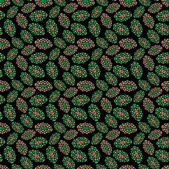 Minimalistyczny indyjski wzór z kwiatowym ornamentem do projektowania tekstyliów.