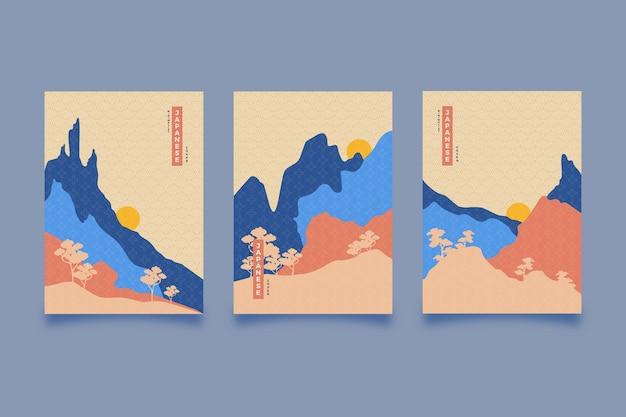 Minimalistyczny japoński styl kolekcji okładek