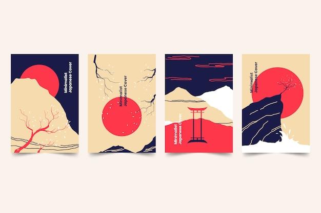 Minimalistyczny japoński zestaw okładek