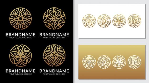 Minimalistyczny klasyczny ornament logo szablon wektor