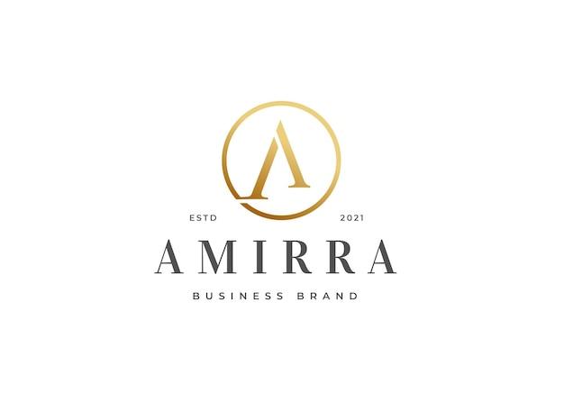 Minimalistyczny luksusowy projekt logo litery a