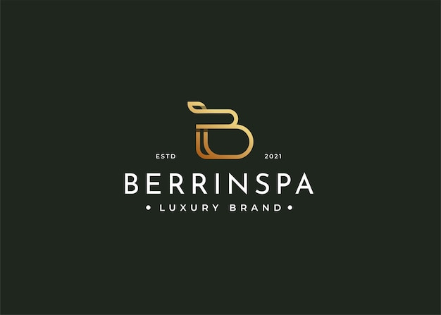 Minimalistyczny luksusowy projekt logo litery b