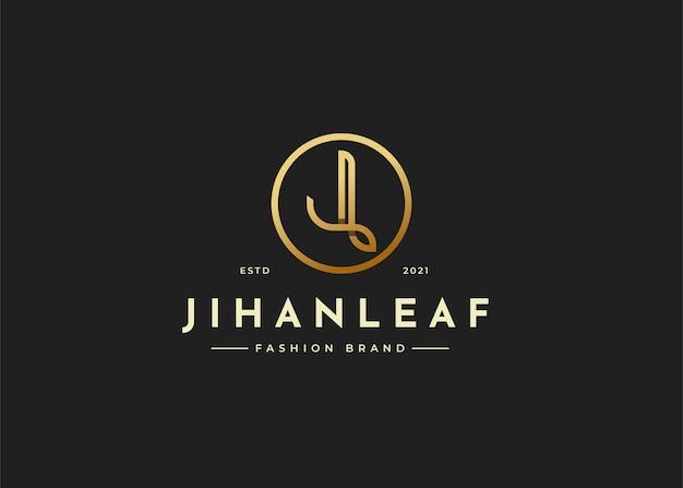 Minimalistyczny luksusowy projekt logo litery j