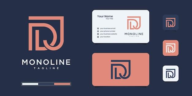 Minimalistyczny monogram logo d i j lub dj, alfabet, list, wstępne szablony projektów.