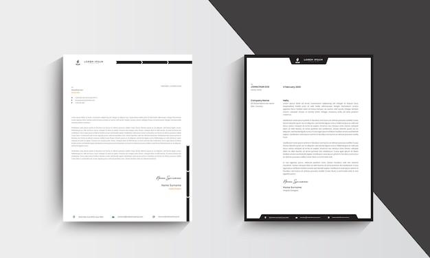 Minimalistyczny nowoczesny papier firmowy szablon projektu. wektor