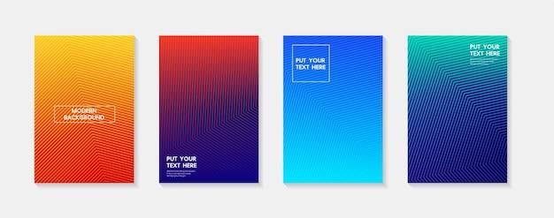 Minimalistyczny nowoczesny projekt okładki dynamiczne kolorowe gradienty przyszłe geometryczne wzory