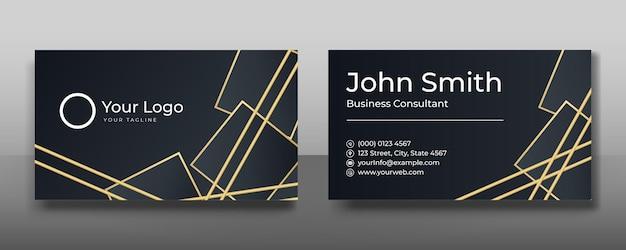 Minimalistyczny, nowoczesny projekt wizytówki z elementami geometrycznymi