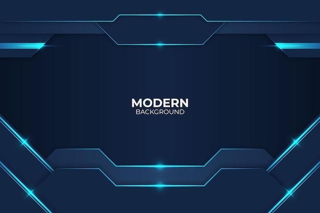 Minimalistyczny nowoczesny styl blask niebieskim tle