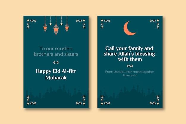 Minimalistyczny ozdobny szablon ulotki ramadan