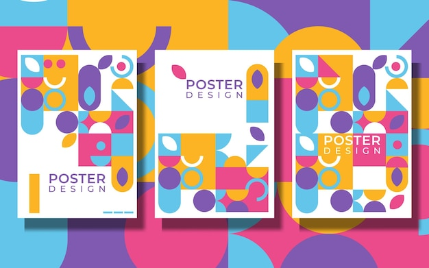 Minimalistyczny plakat geometryczny o prostym kształcie i figurze. abstrakcyjny wzór wektorowy w stylu skandynawskim na baner internetowy, prezentację biznesową, pakiet brandingowy, nadruk na tkaninie, tapetę