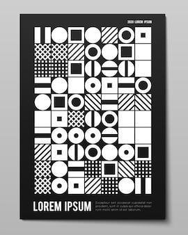 Minimalistyczny plakat o prostych geometrycznych kształtach