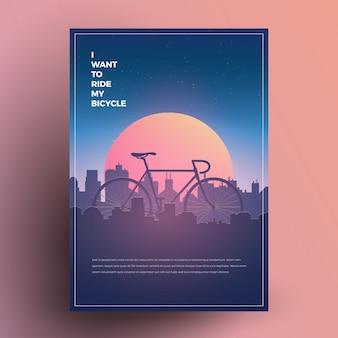 Minimalistyczny plakat rowerowy w nowoczesnym stylu