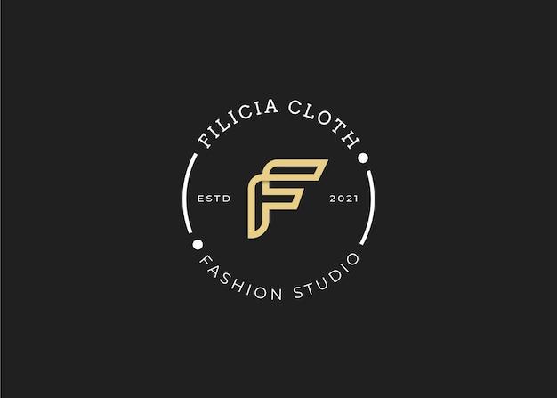 Minimalistyczny początkowy szablon projektu logo litery filustracje wektorowe