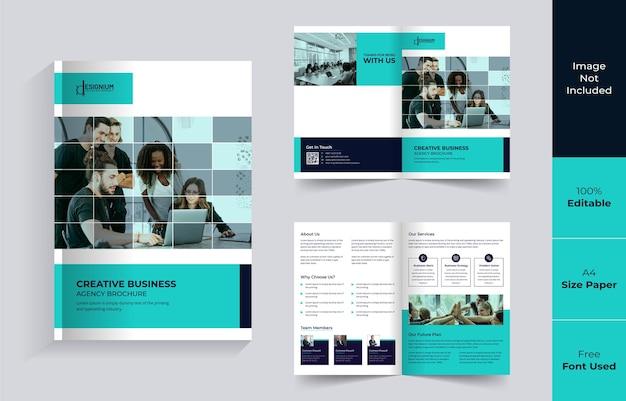 Minimalistyczny projekt broszury bi-fold premium