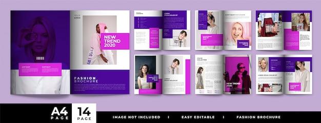 Minimalistyczny projekt broszury mody