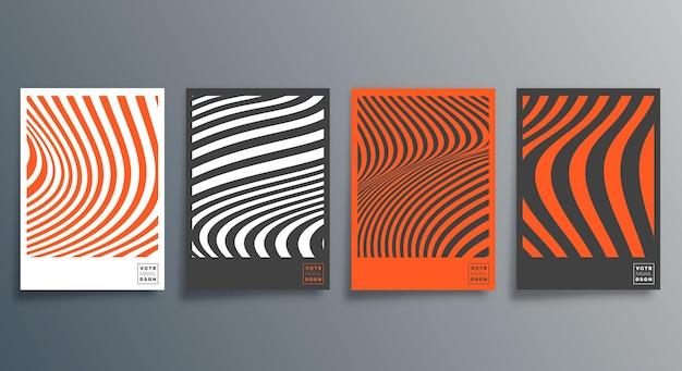 Minimalistyczny projekt linii dla ulotki, plakatu, okładki broszury, tła, tapety, typografii lub innych produktów poligraficznych. ilustracja wektorowa.