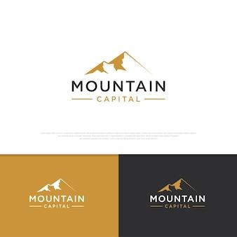 Minimalistyczny projekt logo górskiego