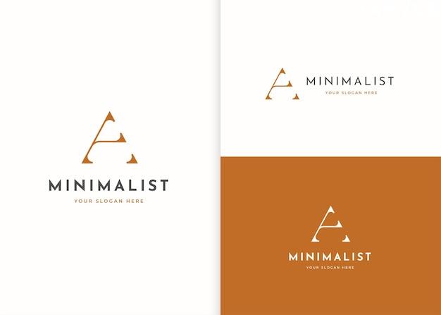 Minimalistyczny projekt logo litery a