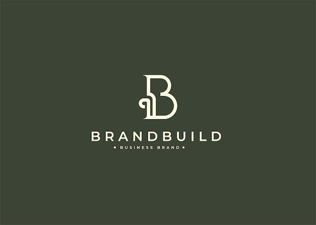 Minimalistyczny projekt logo litery b w kształcie koła