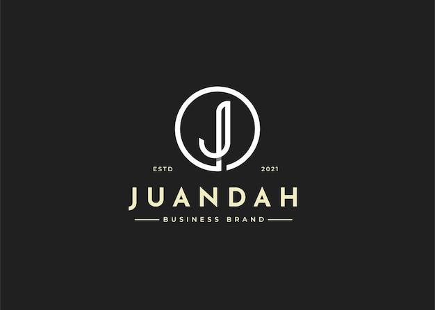 Minimalistyczny projekt logo litery j
