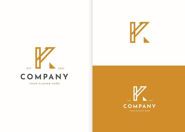Minimalistyczny projekt logo litery k