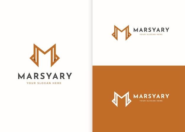 Minimalistyczny projekt logo luksusowej litery m