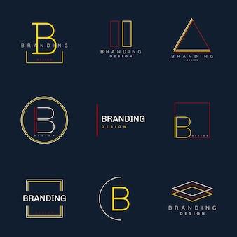 Minimalistyczny projekt marki wektor zestaw