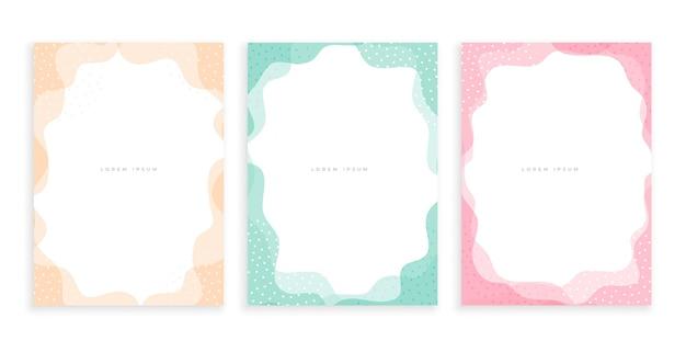 Minimalistyczny projekt plakatu w stylu memphis w pastelowych kolorach