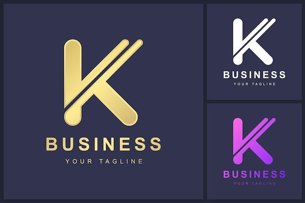 Minimalistyczny projekt szablonu logo litery k.