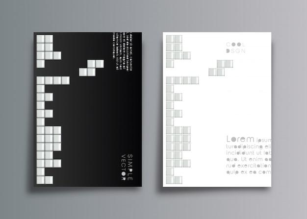 Minimalistyczny projekt tła okładki