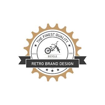 Minimalistyczny Rower Retro, Szablon Wektor Projektowania Logo Premium Wektorów