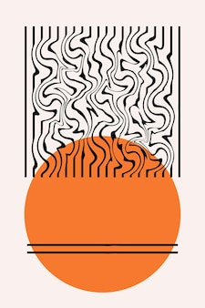 Minimalistyczny streszczenie boho plakat szablon wydruku.