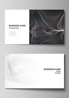 Minimalistyczny streszczenie wizytówki szablon. elegancki czarno-biały design