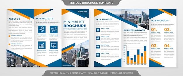 Minimalistyczny styl szablonu broszury trifold
