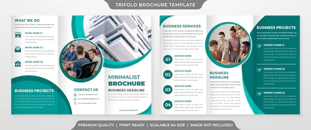 Minimalistyczny szablon broszury trifold w stylu premium