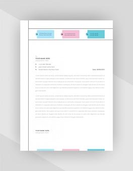 Minimalistyczny szablon firmowy papier firmowy.