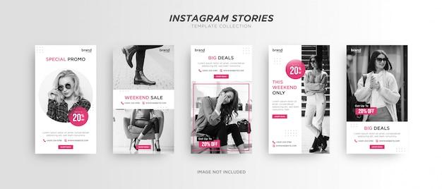 Minimalistyczny szablon historii na instagramie mody