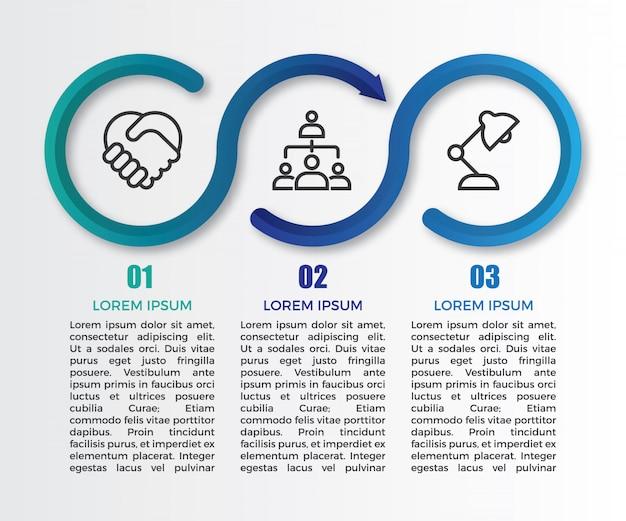 Minimalistyczny szablon infographic gradientu