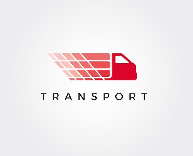Minimalistyczny szablon logo ciężarówki