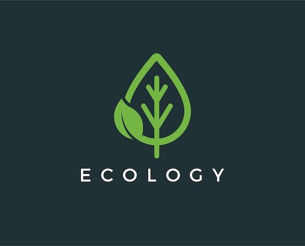 Minimalistyczny szablon logo ekologii