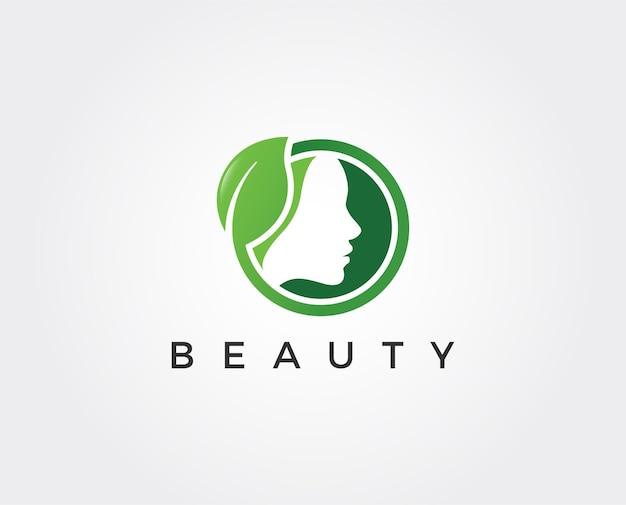 Minimalistyczny szablon logo urody