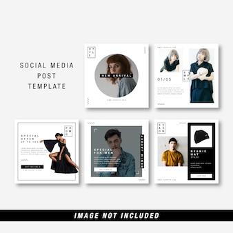 Minimalistyczny szablon mediów społecznościowych