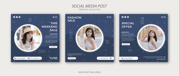 Minimalistyczny szablon postów w mediach społecznościowych