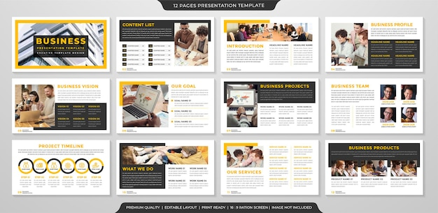 Minimalistyczny szablon prezentacji biznesowej w stylu premium