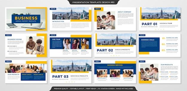 Minimalistyczny szablon prezentacji biznesowej
